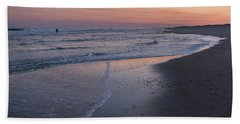 Beach Sheet featuring the photograph Sunset Fishing Seaside Park Nj by Terry DeLuco