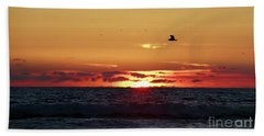 Sunset Flight Beach Sheet by Nicki McManus
