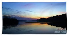 Sunset Florida Seascape Inlet 139a Beach Towel