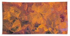 Sunset Flowers Beach Towel