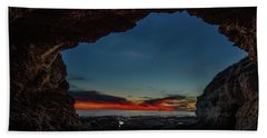 Sunset From Brady's Cave Beach Towel