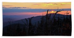 Sunset From Caps Ridge, Mount Jefferson Beach Sheet