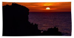 Sunset From Costa Paradiso Beach Towel