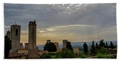 Beach Towel featuring the photograph Sunset From San Gimignano by Jean Haynes