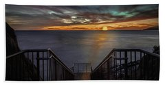 Sunset From Sandpiper Staircase Beach Towel