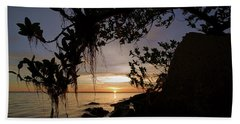 Sunset From The Mangroves Beach Towel