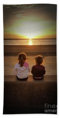 Sunset Girls Beach Towel by Lynn Bolt