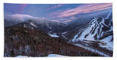 Sunset Glow Over Cannon Mountain Beach Towel