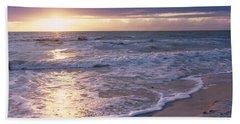 Sunset, Gulf Of Mexico, Florida, Usa Beach Towel