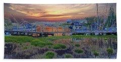 Sunset Harbor Dream Beach Sheet