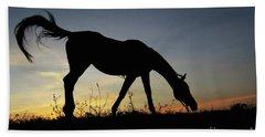 Sunset Horse Beach Towel
