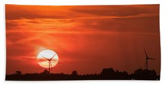 Sunset Husum Beach Towel