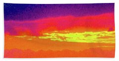 Sunset In Abstract 500 Beach Towel