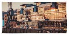 Sunset In Altona Hamburg Beach Towel