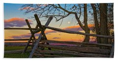 Sunset In Antietam Beach Towel