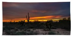 Sunset In Arizona Beach Towel