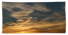 Sunset In Bar Harbor Beach Sheet by Living Color Photography Lorraine Lynch