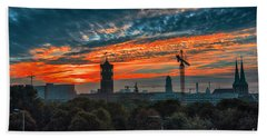 Beach Towel featuring the photograph Sunset In Berlin by Pravine Chester