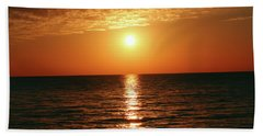 Sunset In Bimini Beach Towel