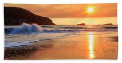 Beach Towel featuring the photograph Sunset In Brookings by James Eddy