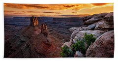 Sunset In Canyonlands Beach Towel