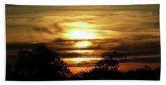 Sunset In Carolina Beach Towel