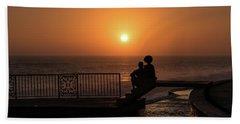 Sunset In Cerritos Beach Towel