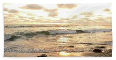 Sunset In Golden Tones Torrey Pines Natural Preserves #2 Beach Towel by Heather Kirk