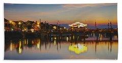 Sunset In Hoi An Vietnam Southeast Asia Beach Towel