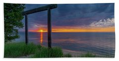 Sunset In Marquette Beach Towel