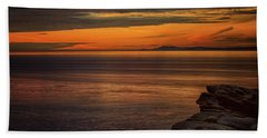 Sunset In May Beach Towel by Randy Hall