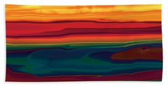 Beach Sheet featuring the digital art Sunset In Ottawa Valley by Rabi Khan