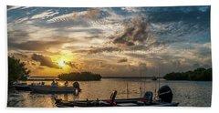 Sunset In Paradise Beach Sheet