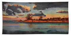 Sunset In Paradise Beach Towel