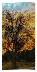 Sunset In Perris Beach Towel