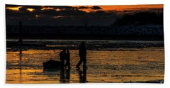 Sunset In Port Colborne Beach Sheet