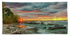 Sunset In Rocky River, Ohio Beach Towel