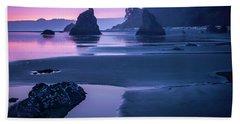 Sunset In Ruby Beach Beach Towel