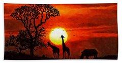 Sunset In Savannah Beach Towel