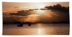 Sunset In Southern Brazil Beach Sheet