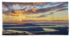 Beach Towel featuring the photograph Sunset In The Desert by Bryan Carter