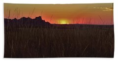 Sunset In The Badlands Beach Towel