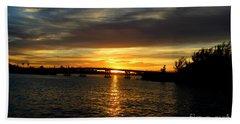 Sunset  In The Bermuda Triangle Beach Sheet