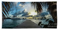 Sunset In The Bvi Beach Towel