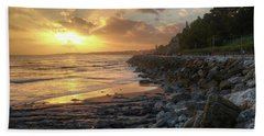 Beach Sheet featuring the photograph Sunset In The Coast by Carlos Caetano