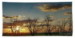 Sunset In The Fields Of Binyamina Beach Sheet by Arik Baltinester