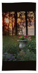 Sunset In The Flowers Beach Towel