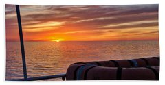 Sunset In The Gulf Beach Towel