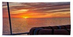 Sunset In The Gulf Beach Sheet