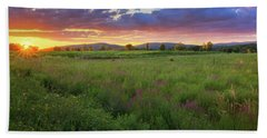 Beach Towel featuring the photograph Sunset In The Hills 2017 by Bill Wakeley